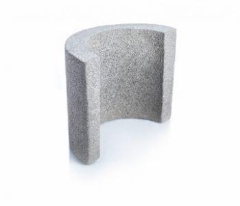 Bloque de cemento para columnas redondas de 25 cm de espesor