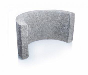 Bloque de cemento para columna redondas de 40 cm de espesor