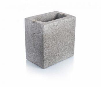 Bloque de cemento mitad visto para 13 cm de espesor