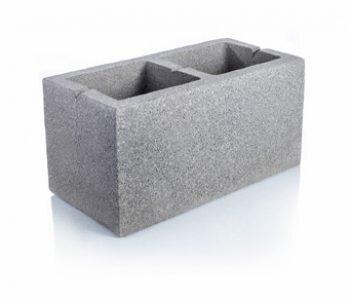 Bloque de cemento visto para muro de 20 cm de espesor