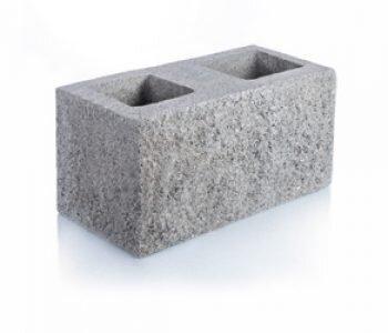 Bloque de cemento simil piedra esquinero para muro de 20 cm de espesor