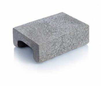 Bloque de cemento para capa aisladora de 13 cm de espesor