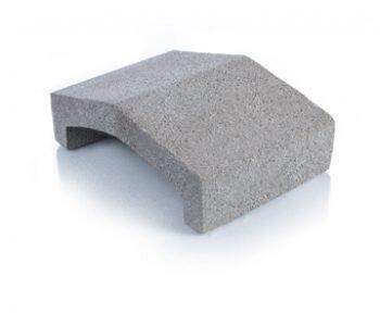 Bloque de cemento tapa para muro de 13 cm de espesor
