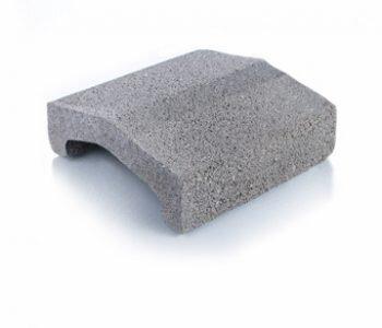 Bloque de cemento tapa para muro de 20 cm de espesor