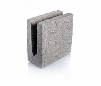 Bloque de cemento para encadenado de 10 cm de espesor