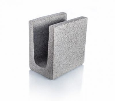 Bloque de cemento para encadenado de 13 cm de espesor