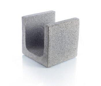 Bloque de cemento para encadenado de 20 cm de espesor
