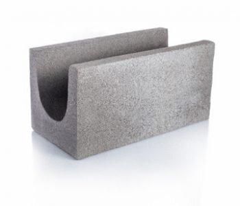 Bloque de cemento para encadenado visto de 20 cm de espesor