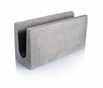 Bloque de cemento para encadenado visto de 40 cm